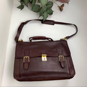 Vintage Etienne Aigner Leather Briefcase